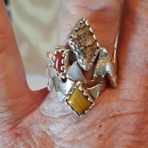 Carolyn Pollack Sterling Silver Southwest Ring